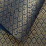 Papel Arabesco Azul com Dourada - Tam. 30,5x30,5 - 180g/m²