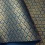 Papel Arabesco Azul com Dourado - Tam. A4 - 180g/m²