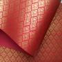 Papel Arabesco Vermelho com Dourado - Tam. A4 - 180g/m²