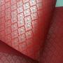 Papel Arabesco Vermelho com Prata - Tam. 30,5x30,5 - 180g/m²