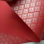 Papel Arabesco Vermelho com Prata - Tam. A4 - 180g/m²
