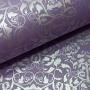 Papel Floral Ref 01 - Amsterdan  com prata - Tam. 30,5x30,5 - 180g/m²