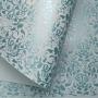 Papel Floral Ref 01 - Branco com Azul  - Tam. 30,5x30,5cm - 180g/m²