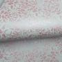 Papel Floral Ref 01 - Branco com Rosa Metalico  - Tam. A4 - 180g/m²