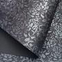 Papel Floral Ref 01 - Grafite com prata - Tam. 30,5x30,5 - 180g