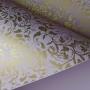 Papel Floral Ref 01 - Lilas com dourado  - Tam. 30,5x30,5 - 180g/m²