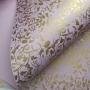 Papel Floral Ref 01 - Lilas com Dourado - Tam. A4 - 180g/m²