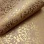 Papel Floral Ref 01 -Palha com dourado - Tam. A3 - 180g/m²