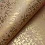 Papel Floral Ref 01 - Palha com Ouro - Tam. A4 - 180g/m²