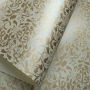 Papel Floral Ref 01 - Pérola Champanhe com Dourado - Tam. 30,5x30,5 - 180g/m²