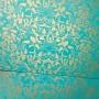 Papel Floral Ref 01 - Tiffani com dourado  - Tam. 30,5x30,5 - 180g/m²