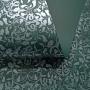 Papel Floral Ref 01 - Verde Escuro com Prata - Tam. A4 - 180g/m²