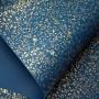 Papel Floral Ref 03 - Azul Escuro com Dourado - Tam. A3 - 180g/m²