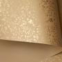 Papel Floral Ref 03 - Bege com Dourado - Tam. A4 - 180g/m²