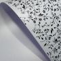Papel Floral Ref 03 - Pérola Branca com Preto - Tam. A3 - 180g/m²