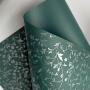 Papel Floral Ref 03 - Verde Escuro com Prata  - Tam. 30,5x30,5 - 180g/m²