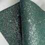 Papel Floral Ref 03 - Verde Escuro com prata - Tam. A4 - 180g/m²