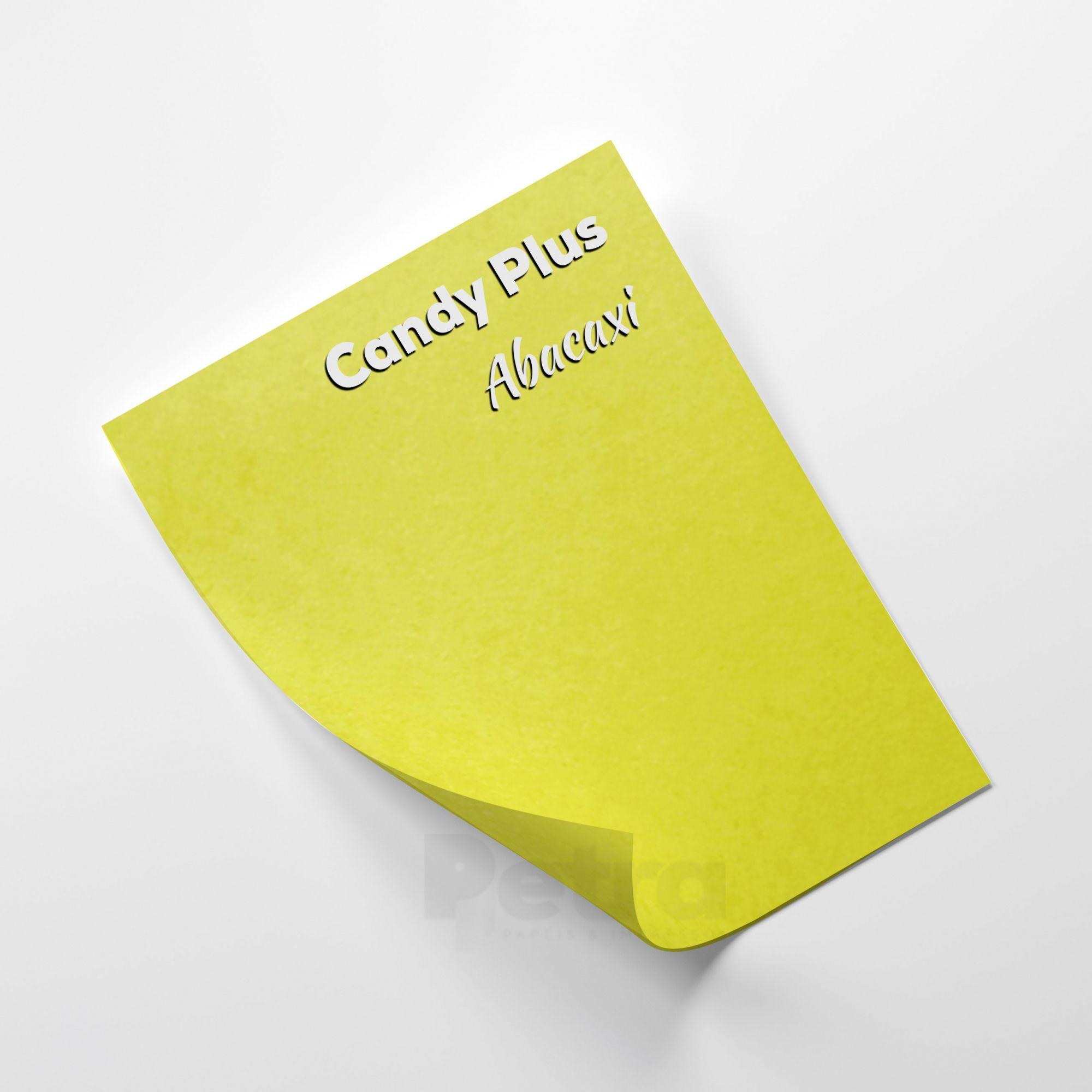 Candy Plus - Abacaxi - Amarelo  - Tam. A4 - 180g/m² - 20 folhas