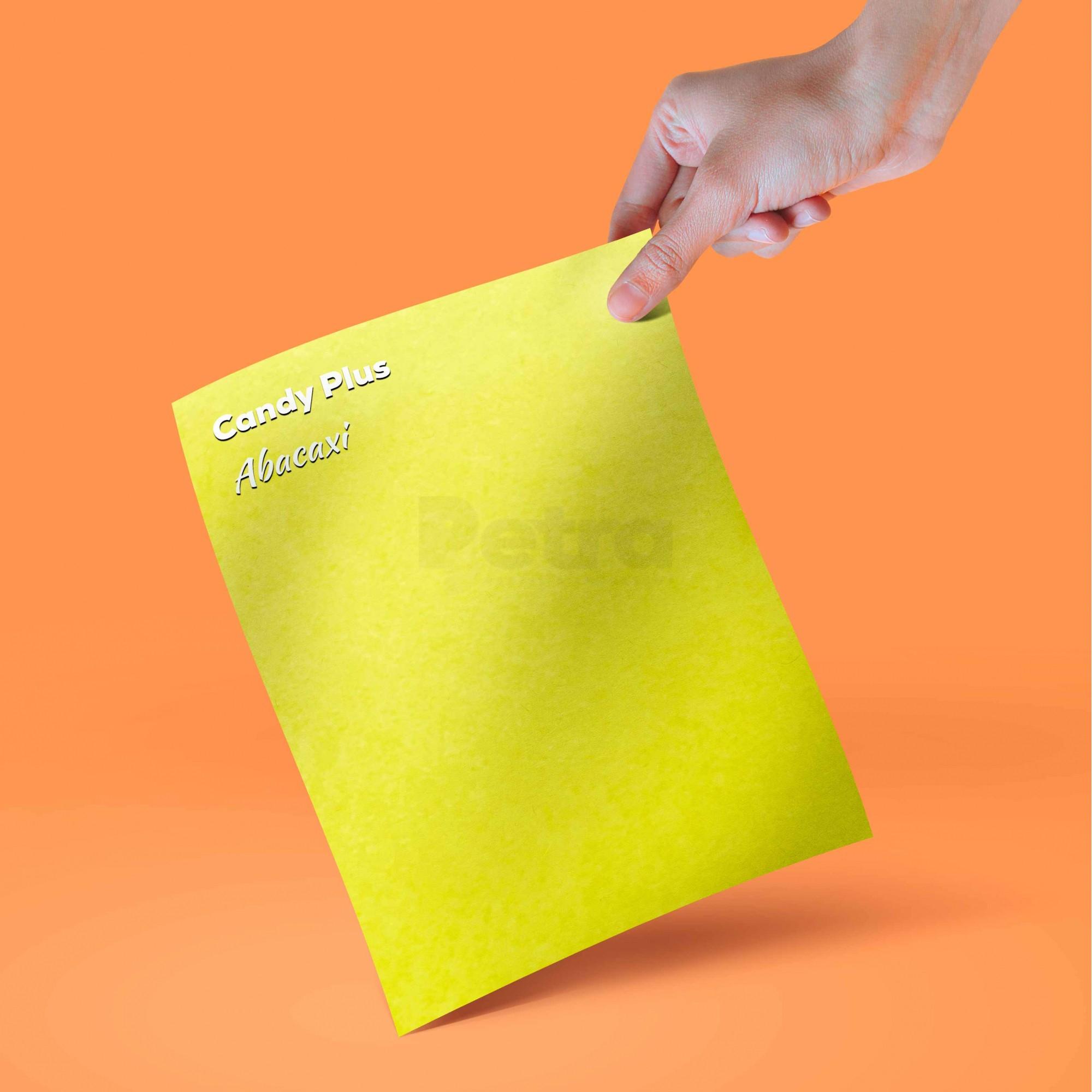 Candy Plus - Abacaxi - Amarelo  - Tam. A4 - 240g/m² - 20 folhas