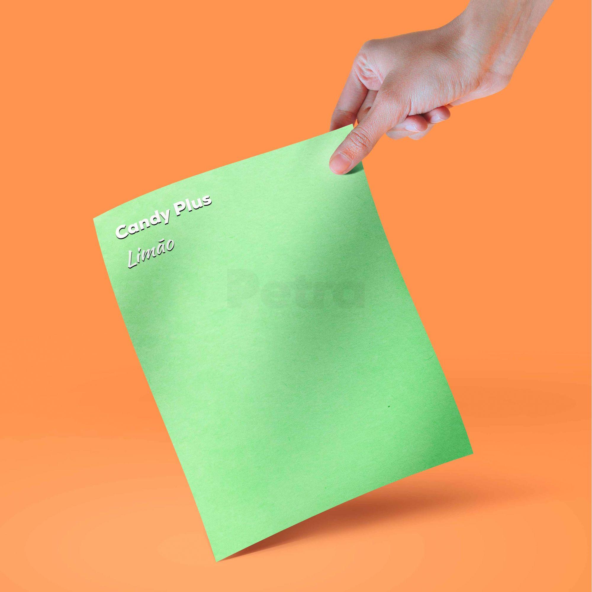 Candy Plus - Limão  - Verde - Tam. A4 - 180g/m² - 20 folhas