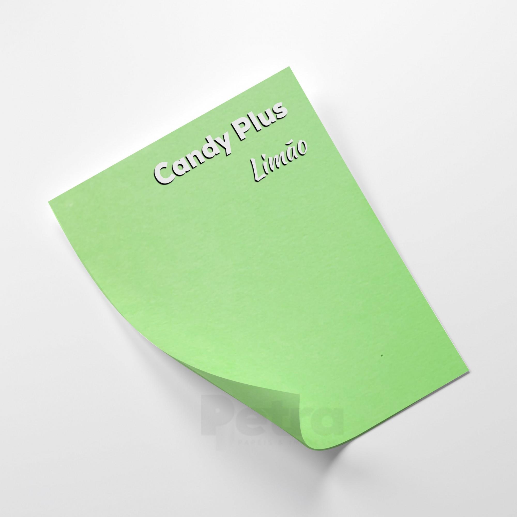 Candy Plus - Limão  - Verde - Tam. A4 - 240g/m² - 20 folhas