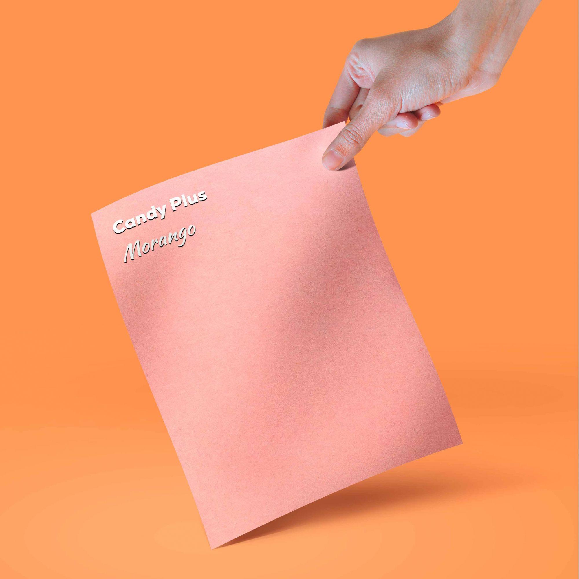 Candy Plus - Morango -  rosa  - Tam. A4 - 180g/m² - 20 folhas