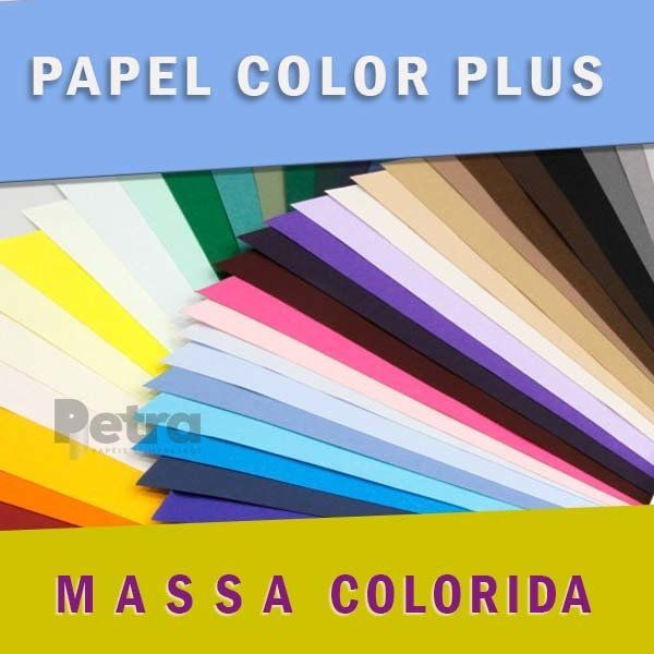 Kit Color Plus com 125 folhas tam. 30,5x30,5cm (Scrap) 180g/m²