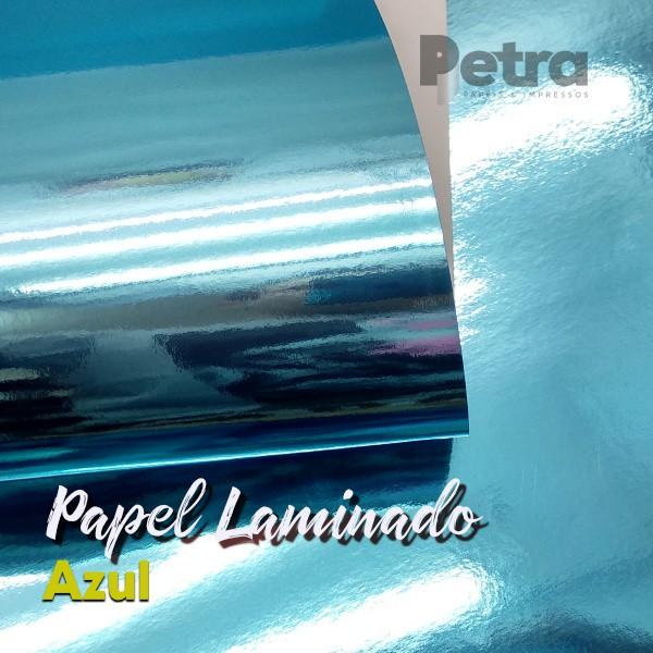 Laminado Azul 1 Face Tam. A4 - 180g/m² - com 20 folhas