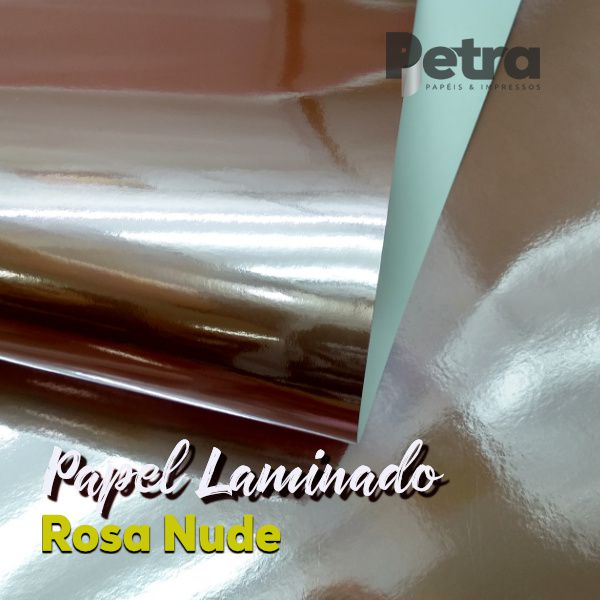 Laminado Rosa Nude 1 Face Tam. A4 - 250g/m² - com 20 folhas