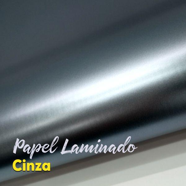 Laminado Cinza Prata 1 Face Tam. A4 - 250g/m² - com 20 folhas