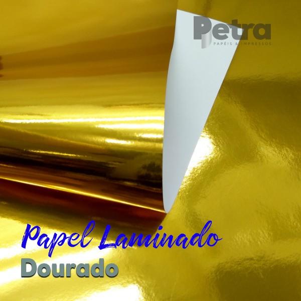 Laminado dourado 1 Face Tam. A4 - 180g/m² - com 20 folhas