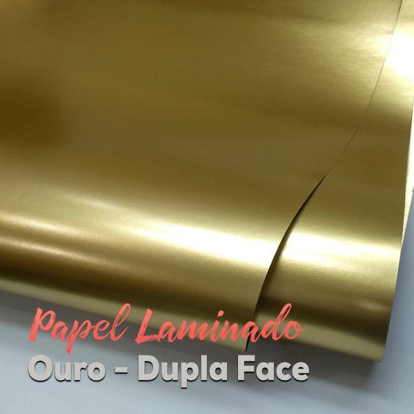 Laminado dourado  dupla Face Tam. A3 - 180g/m² - 50 folhas