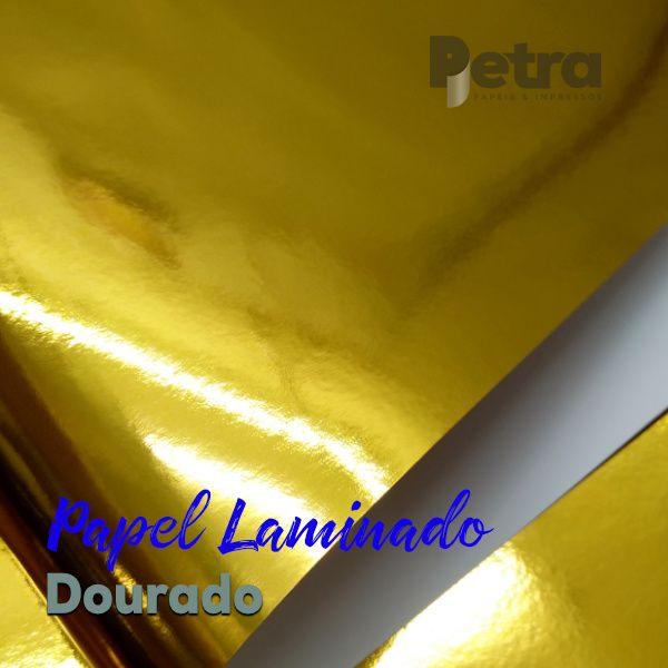 Laminado dourado  uma Face Tam. A3 - 250g/m² - 20 folhas