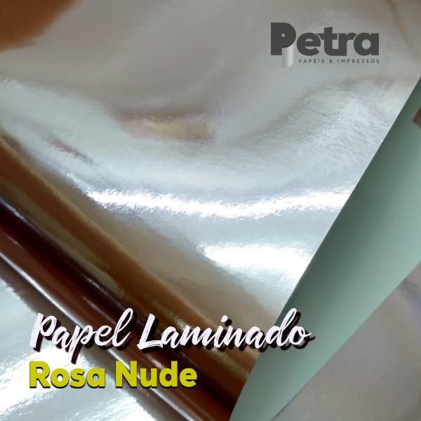 Laminado Rosa Nude 1 Face Tam. A4 - 180g/m² - com 20 folhas