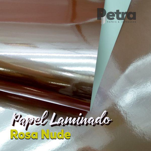 Laminado Rosa Nude uma Face Tam. A3 - 255g/m² - 20 folhas