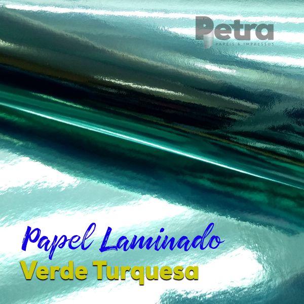 Laminado Verde Turquesa 1 Face Tam. A3 - 255g/m² - 20 folhas