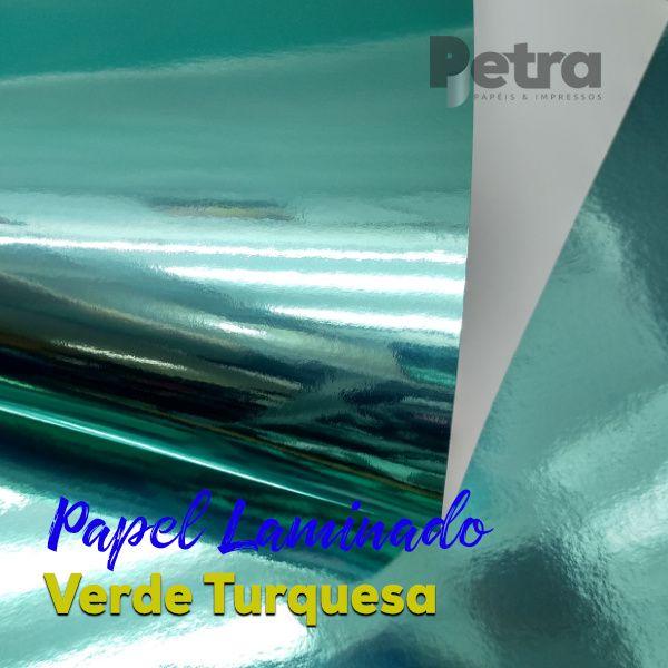 Laminado Verde Turquesa 1 Face Tam. A3 - 250g/m² - 20 folhas