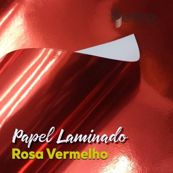 Laminado Vermelho 1 Face Tam. A3 - 250g/m² - com 20 folhas