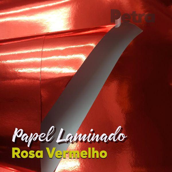 Laminado Vermelho 1 Face Tam. A4 - 180g/m² - com 20 folhas