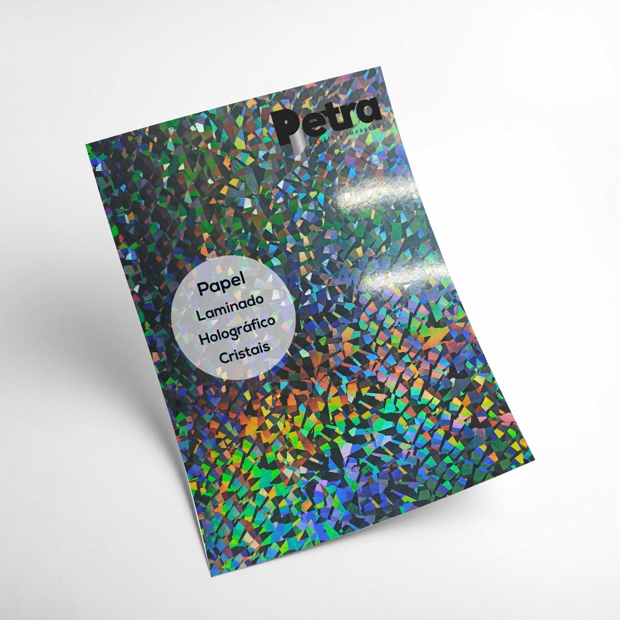 Laminando Holográfico Cristais 1 Face Tam. A4 - 250g/m² - com 20 folhas