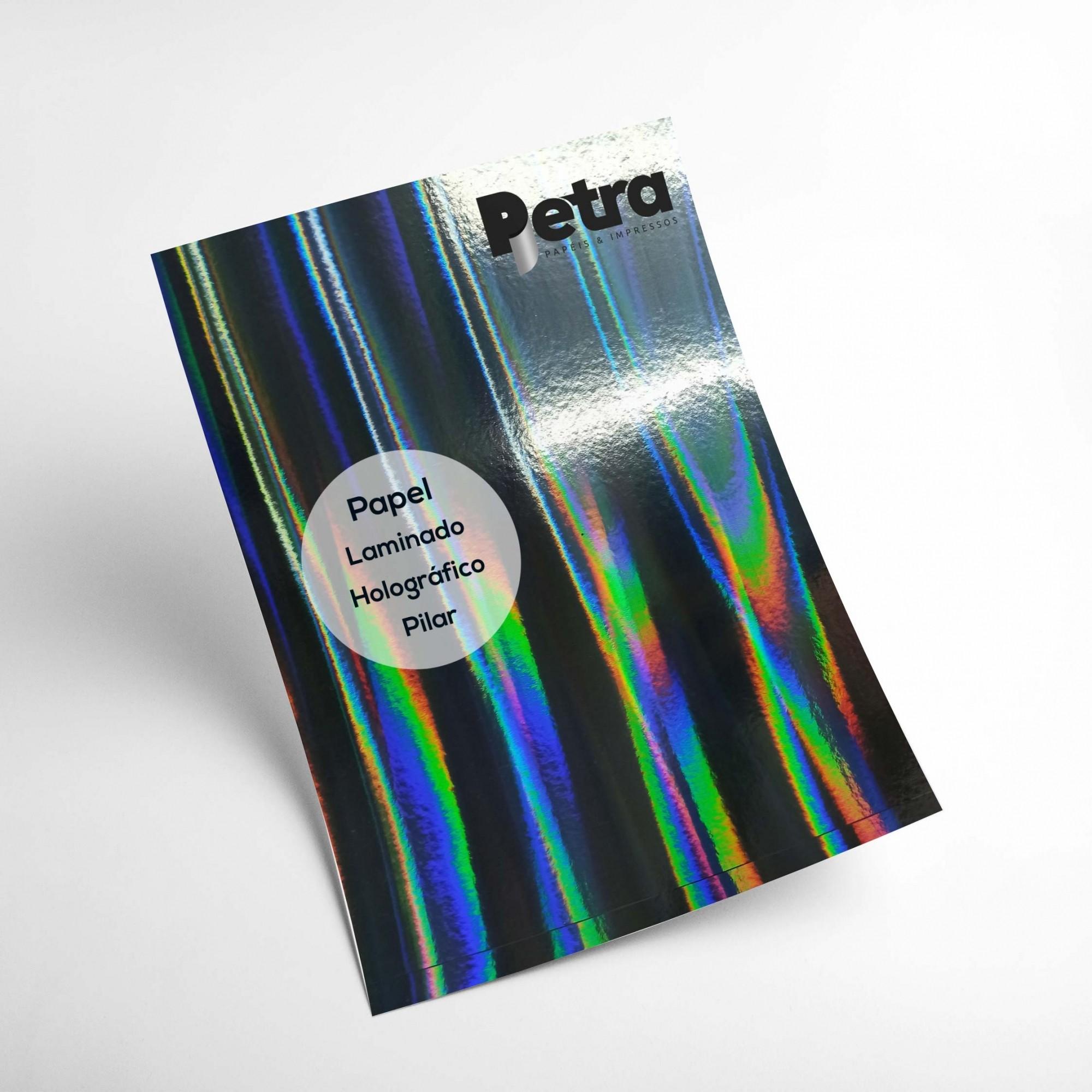 Laminando Holográfico Pilar 1 Face Tam. A4 - 250g/m² - com 20 folhas