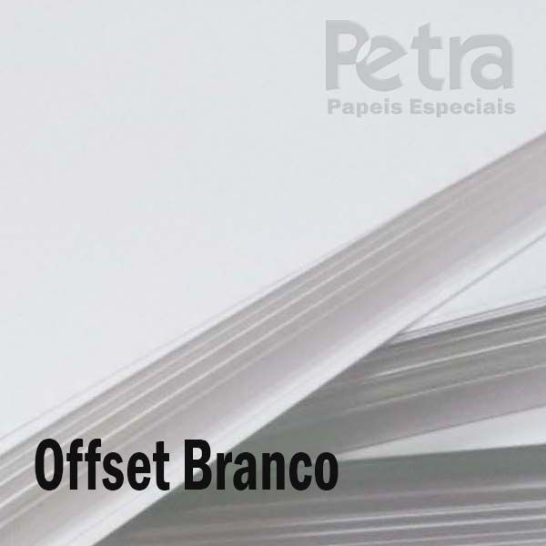 Offset / Branco 240g/m²  Tamanho 30,5x30,5 cm