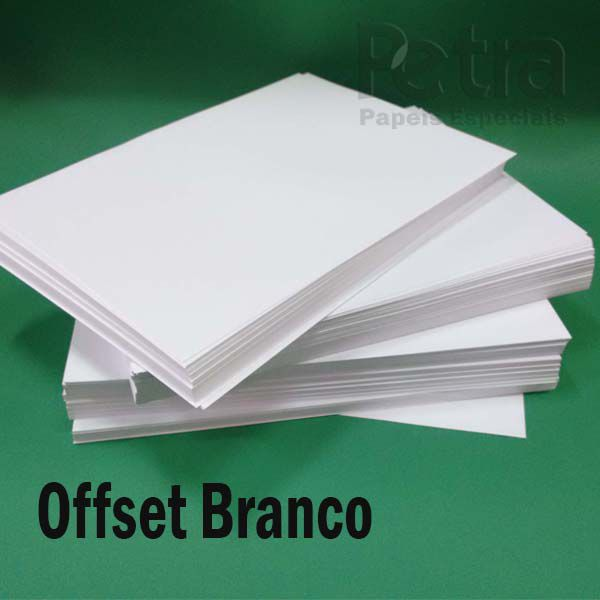 Offset / Branco 240g/m²  Tamanho A3