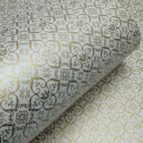 Papel Adamascado - Pérola com Dourado - Tam. A4 - 180g/m²