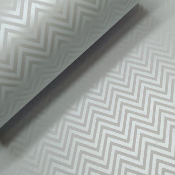 Papel Chevron - Branco com Pérola - Tam. A4 - 180g/m²