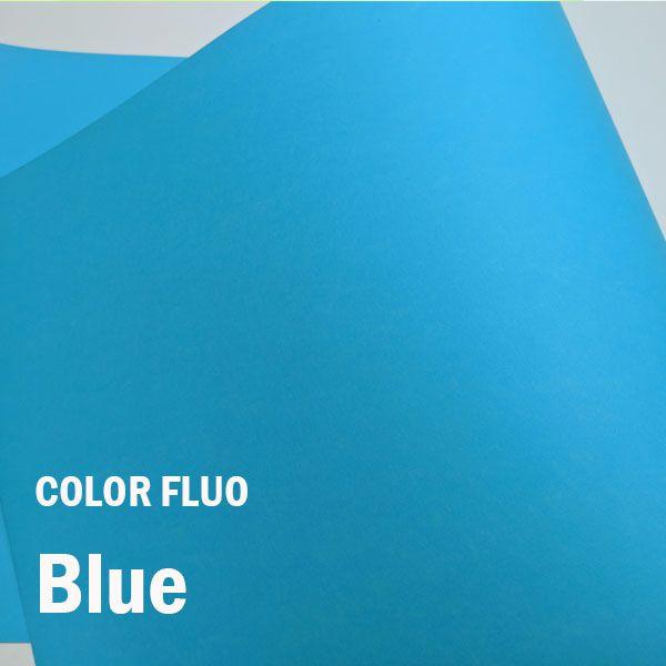 Papel Color Fluo Blue - Tam. A4 - 180g/m² - 20 folhas