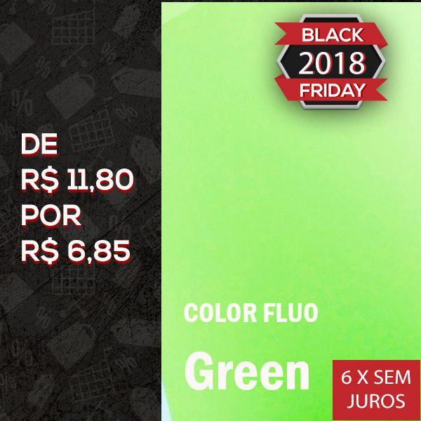 Papel Color Fluo Green - Tam. A4 - 180g/m² - 20 folhas