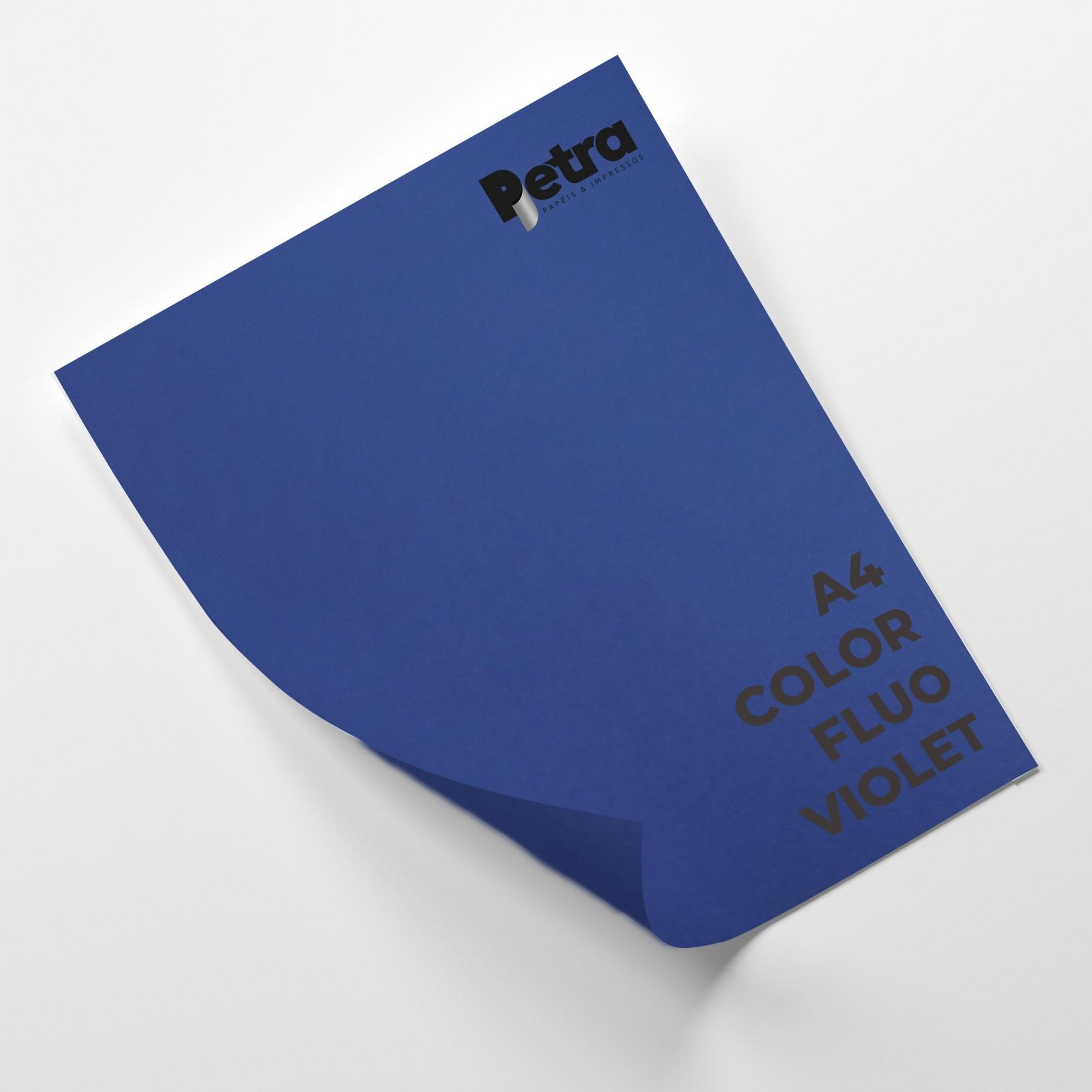 Papel Color Fluo Violet  Tam. A4 180g/m² - 20 Folhas