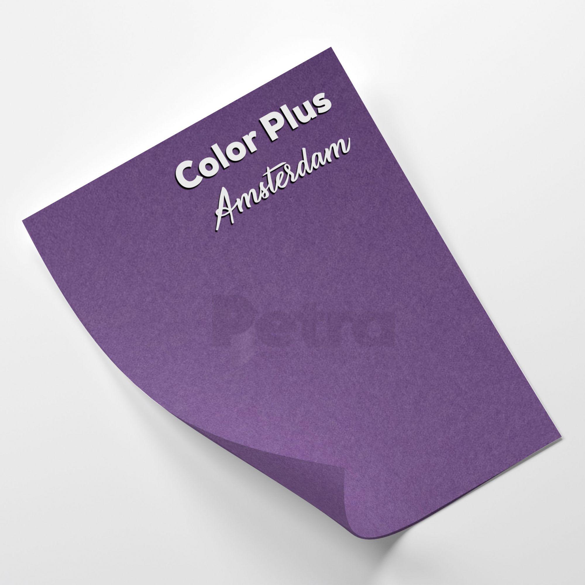Papel Color Plus Amsterdan - Roxo tam. A4 180g/m²