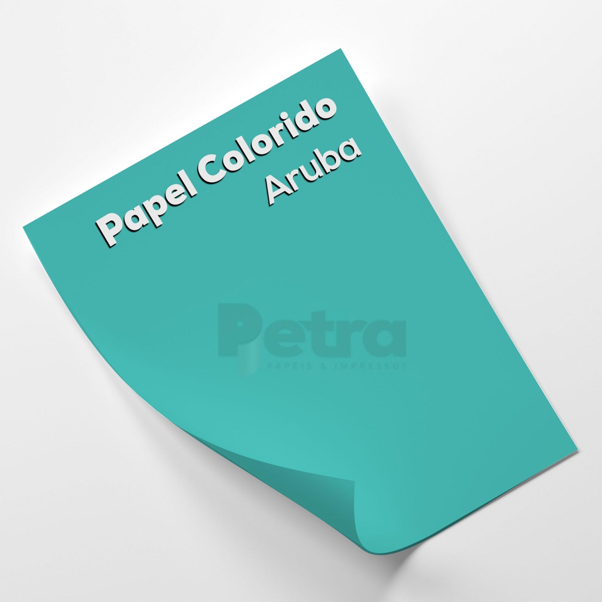 Papel Color Plus Aruba  tam. 32x65cm 180g/m² 50 Folhas